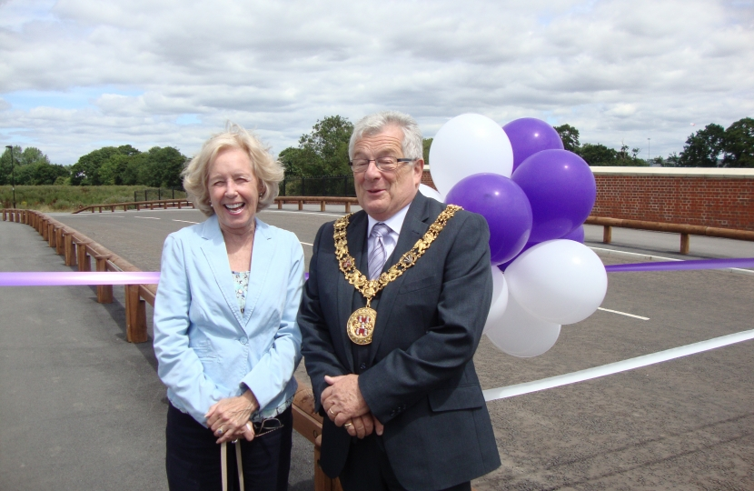 Patricia with mayor - David McLean