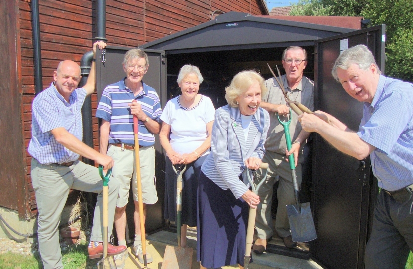 New Tool Shed at Denmead Community Centre
