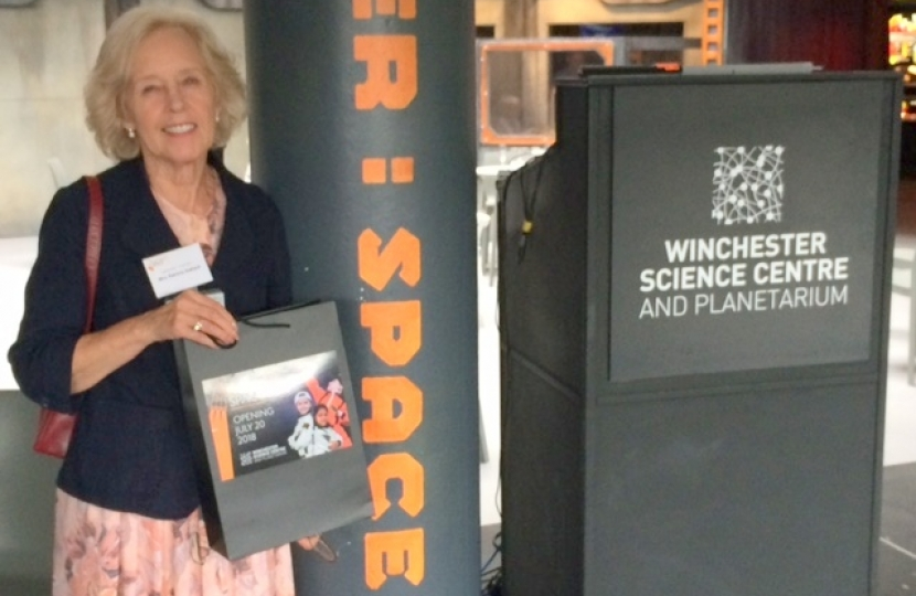 Patricia Stallard at Winchester Science centre
