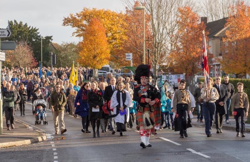 WW1 Remembrance Sunday in Denmead