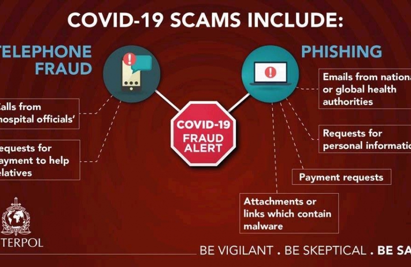 Covid scammers image
